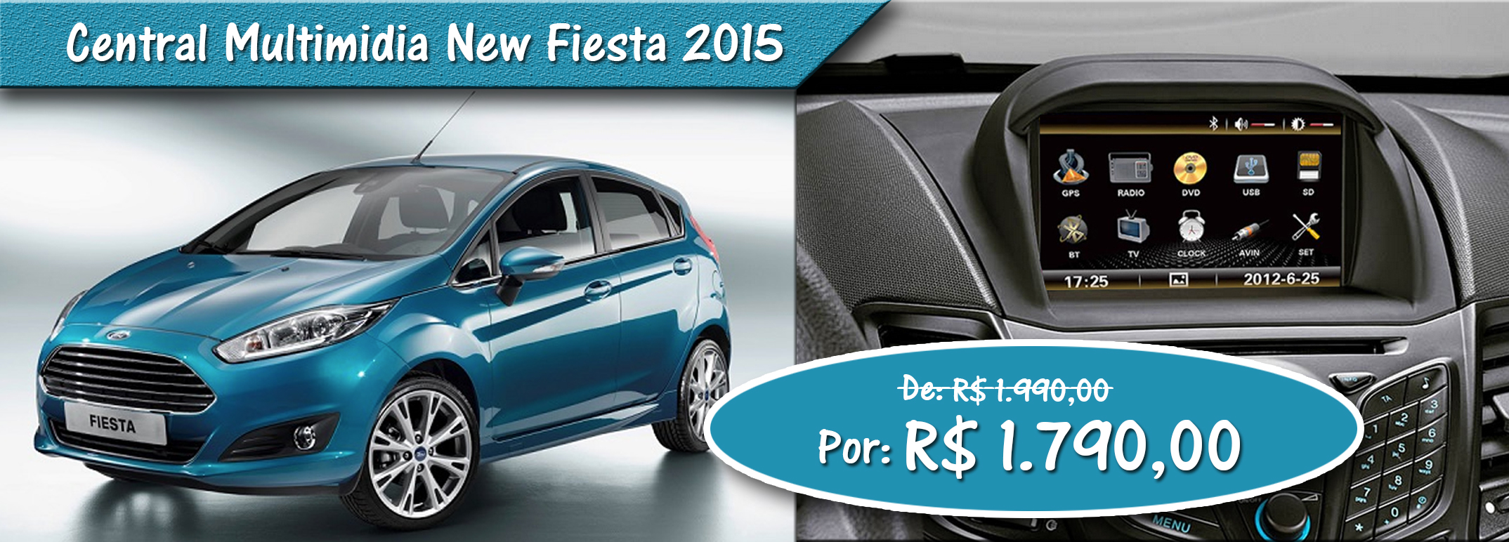 Central Multimidia Ford New Fiesta 2015