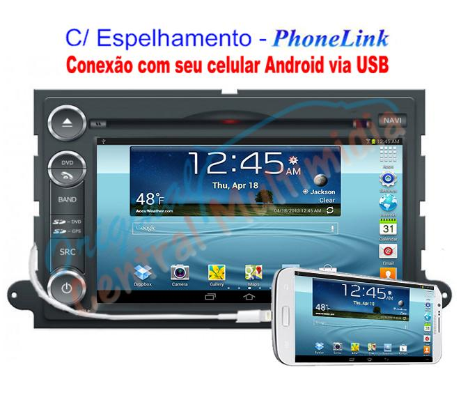 Central Multimidia Ford Fusion 2007/09 - PhoneLink