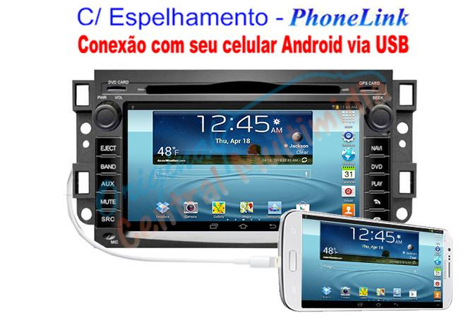 Central Multimidia GM Captiva  2008 a 2014 - WINCA S90 Phonelink