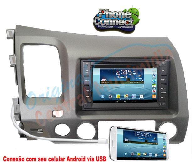 Central Multimidia Honda New Civic 2007 a 2011 (Multimidia + Moldura) Audio System