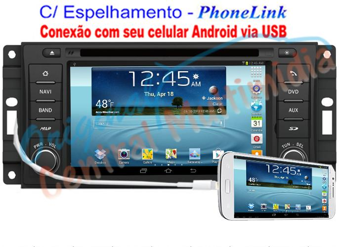Central Multimidia ORIGINAL JEEP Compass - WINCA S90 PhoneLink