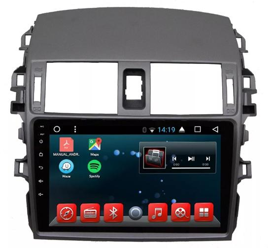 Central Multimídia Android Toyota Corolla 2009 A 2014 Tela 9