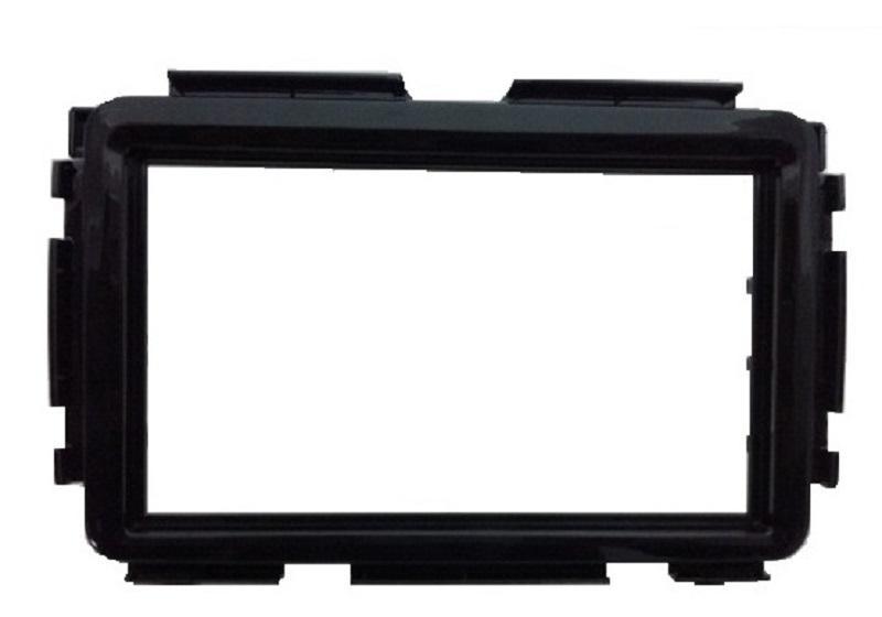 Moldura 2DIN HRV Black Piano
