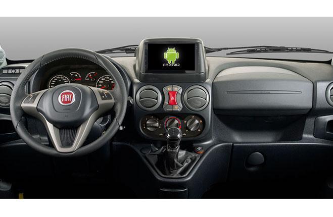 Central Multimidia Android Fiat Doblo (Multimidia + Moldura Preta)