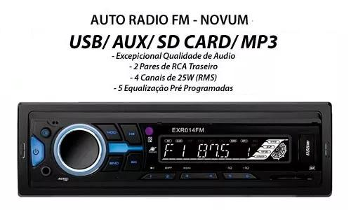 Radio Automotivo Fm Sd Usb Aux Mp3