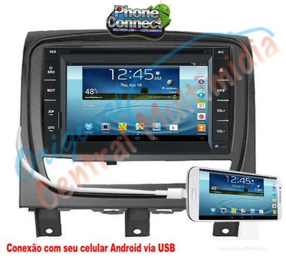 Fiat Strada Advent.  Locker/Siena/Palio Wek. 2013/15 (Universal + Moldura CINZA) Audio System