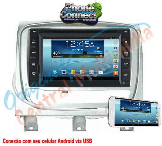 Fiat Strada Advent  Locker/Siena/Palio Wek.2013/15 (Universal + Moldura PRATA) Audio System
