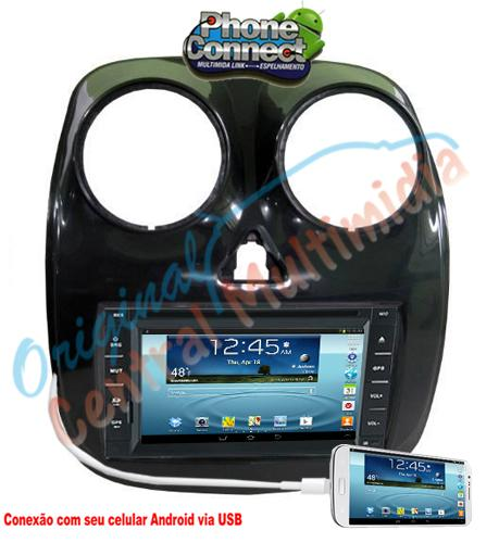Central Multimídia - Fiat  Palio 2013/14 - Universal+Moldura - (Audio System)