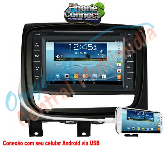 Fiat Strada Advent /Palio Wek. 2013 a 2015 (Multimidia + Moldura PRETA) Audio System