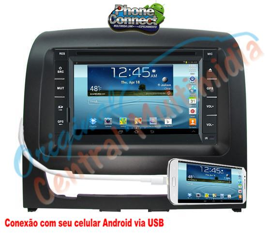 Central Multimidia Fiat Idea 2013 a 2015 (Multimidia + Moldura) - Audio System