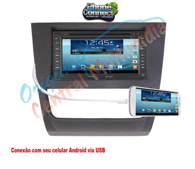 Central Multimídia - GOL G6/Voyage - VW (Universal + Moldura Cinza) -  Audio System