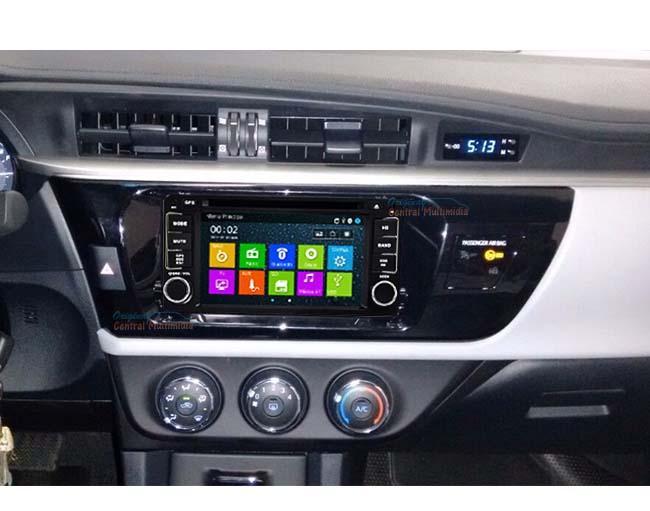 Central Multimidia Toyota Corolla 2015 2016 2017 GLI - S/ SOM ORIGINAL (Led Azul)