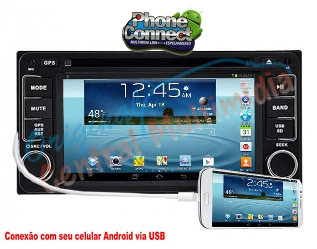 Central Multimidia Toyota Corolla/ Fielder/ Prado 2004 /07 Audio System