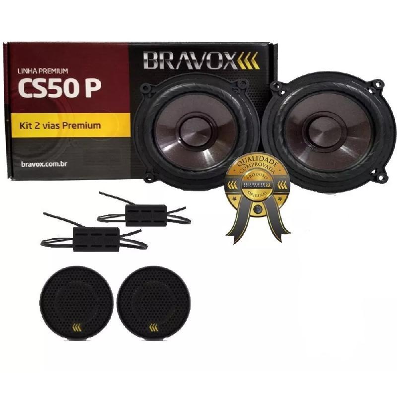 Alto Falante Kit 2 Vias Bravox 5 Polegadas Cs50p + Tweeter