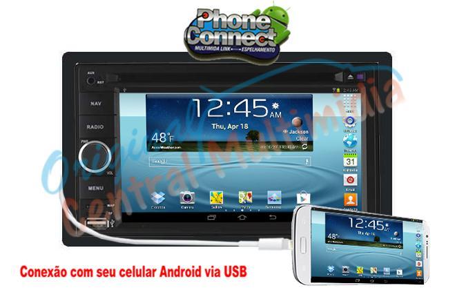 Central Multimídia - Honda - City DX - Fit LX 2007/ 2015 (Universal + Moldura)