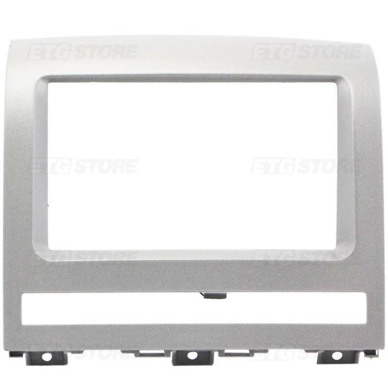 Moldura para DVD Fiat Palio Idea 2007/12 Prata