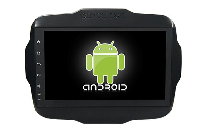 Central Multimidia Android  tela 9´pol  Jeep Renegade