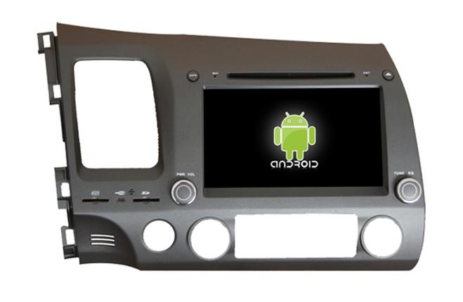 Central Multimidia Android - Honda New Civic 2007 a 2011