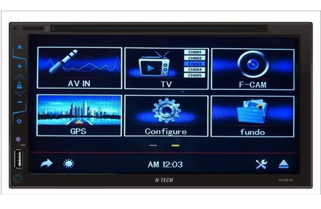 Central Multimídia Universal DVD TV GPS  BT  Espelhamento