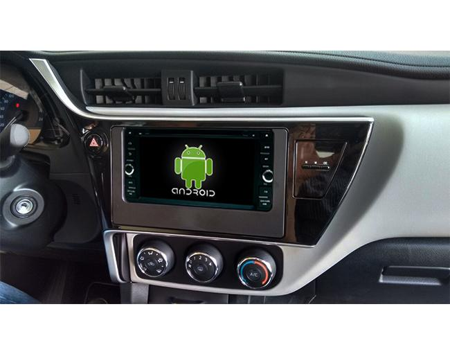 Central Multimidia Android Toyota Corolla 2018 GLI