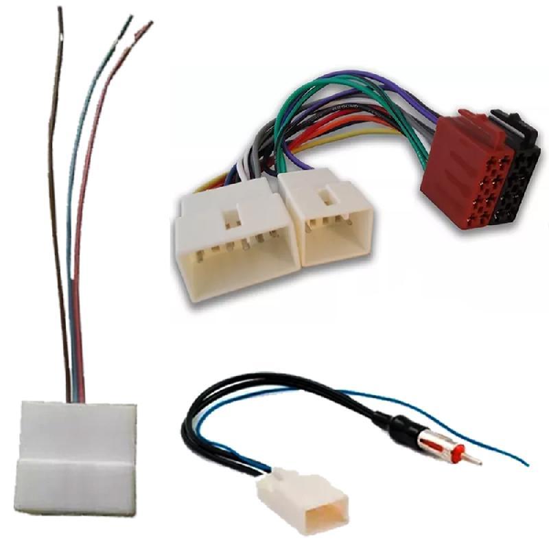 Plug Chicote Som + Adaptador Antena Toyota Yaris