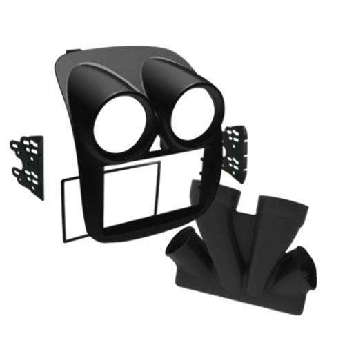 Moldura DVD 2 Din Gran Siena com duto - Black Piano