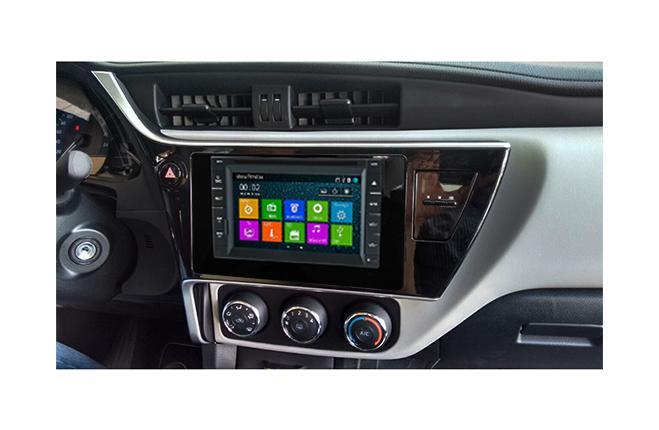 Central Multimidia Toyota Corolla 2018 2019  GLI (Multimidia + Moldura)