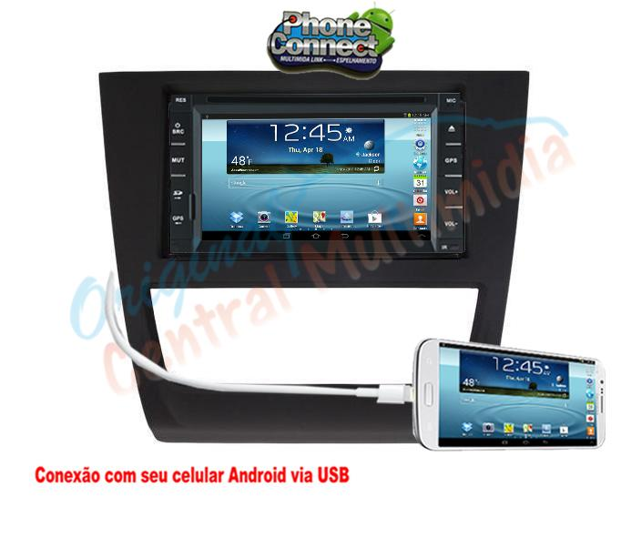 Central Multimídia Gol G6 Saveiro G6 (Multimidia + Moldura Preta) - Audio System OEM